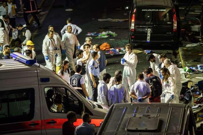 A l'aéroportAtatürk d'Istanbul, théâtre d'une attaque terroriste, le 28 juin.