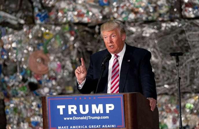 « Le TPP, tel qu'on le connaît, donnerait un coup fatal à l'industrie américaine», a déclaré Donald Trump à Monessen, en Pennsylvanie, le 28 juin 2016.