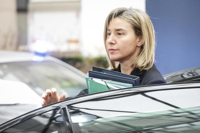 La haute représentante de l'Union pour la politique extérieure de l'Europe en mars.