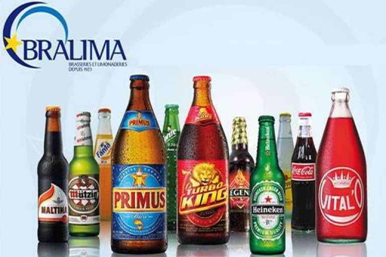 La game des boissons Bralima, filiale de Heineken en République démocratique du Congo.