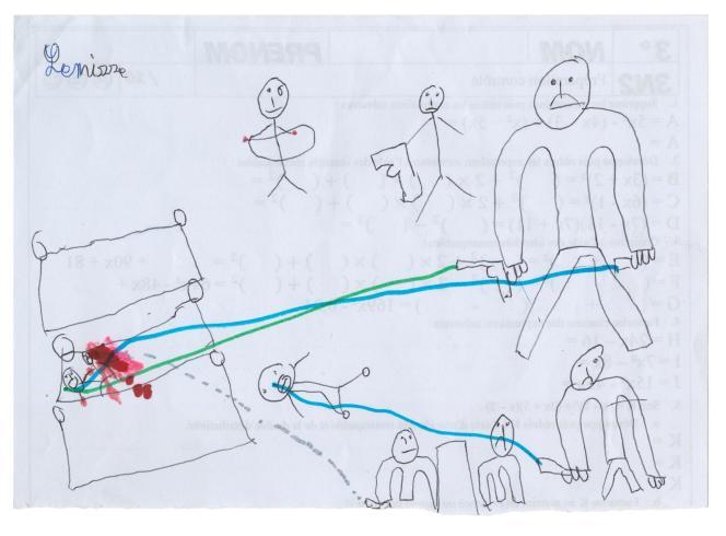 Lemisse a fait de nombreux dessins de la nuit de la perquisition. Ses parents en ont jeté la plupart, soucieux de ne pas trop entretenir ces souvenirs douloureux.