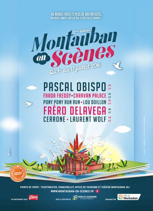 Affiche du festival Montauban en scènes, du 1er au 17 juillet.