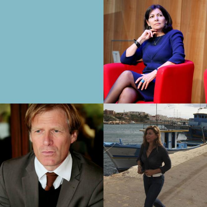En haut Anne Hidalgo, en bas à gauche Pascal Brice, en bas à droite Guisi Nicolini.