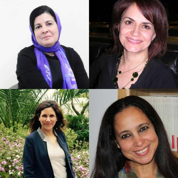 En haut à gauche Asma Lamrabet, à sa droite Chahla Chafiq, en bas à gaucheInes Safi,en bas à droite Houria Abdelouahed.