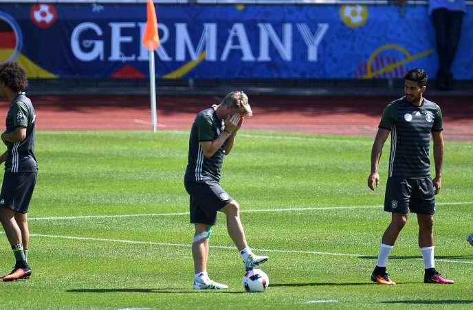 Entraînement de l'équipe d'Allemagne, le 29 juin.