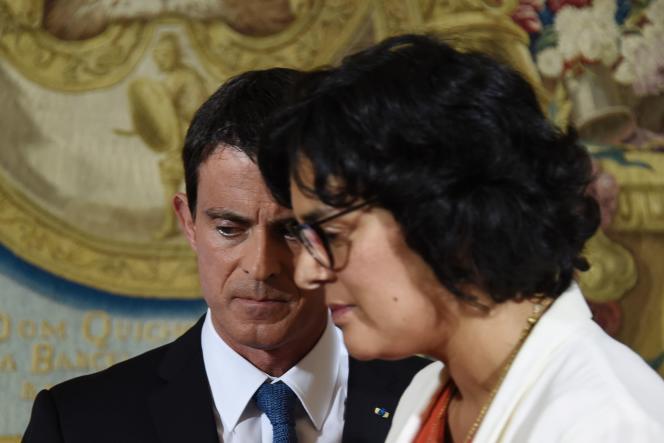 Manuel Valls et Myriam El Khomri le 29 juin.