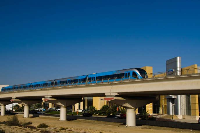 Le métro à Dubaï, en 2011.