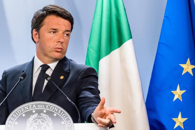 Le premier ministre italien, Matteo Renzi, durant un sommet européen, à Bruxelles, le 29 juin