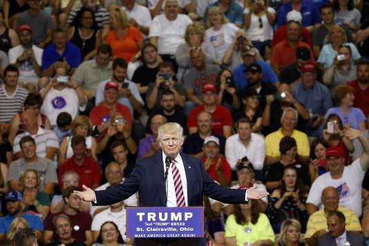 Donald Trump, à un meeting de campagne, à St. Clairsville (Ohio), le 28 juin.