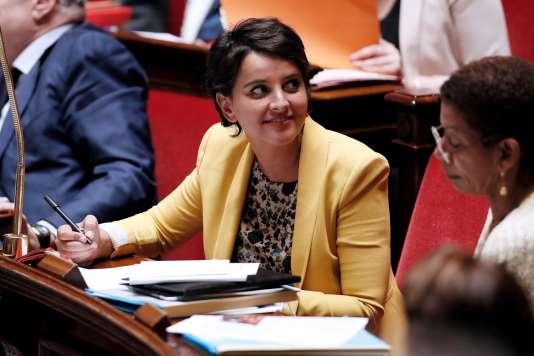 Najat Vallaud-Belkacem, ministre de l'éducation nationale, en juin 2016, lors des questions au gouvernement.