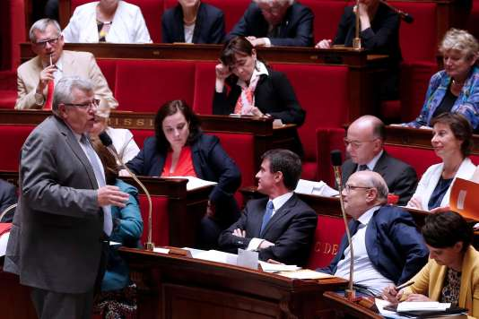 Le secrétaire d'Etat chargé du budget, Christian Eckert, lors des questions au gouvernement, à l'Assemblée nationale, le 29juin2016.