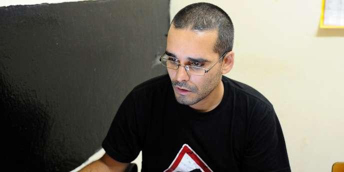 Le rappeur Luaty Beirao en août 2012.