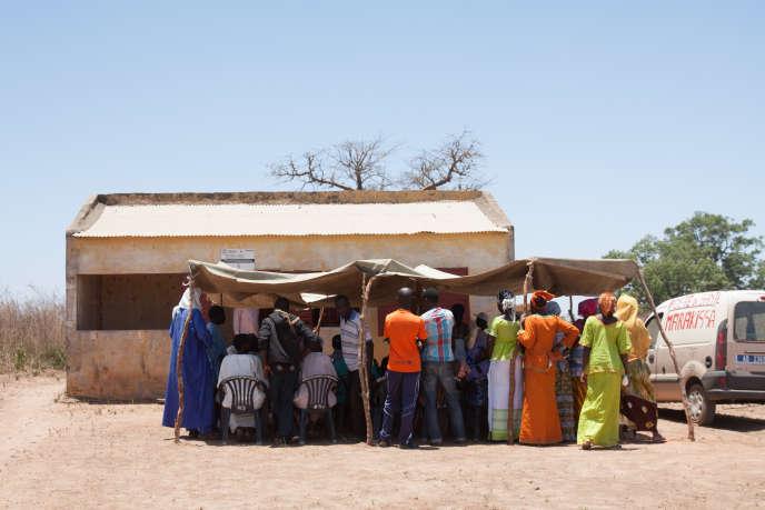 La «case de santé locale»près du hameau de Dionie, où les sages-femmes volantes organisent une fois par mois des consultations gynécologiques et de médecine générale.