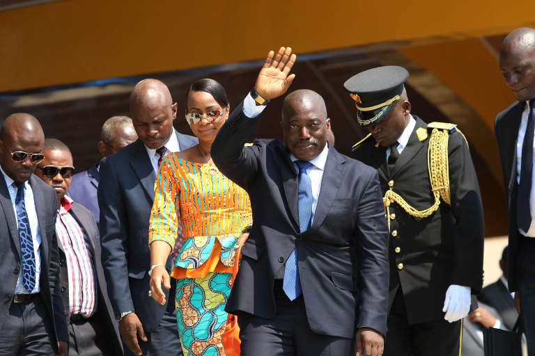 Le président congolais Joseph Kabila à Kindu lors des célébrations de l'indépendance, le 30 juin 2016.