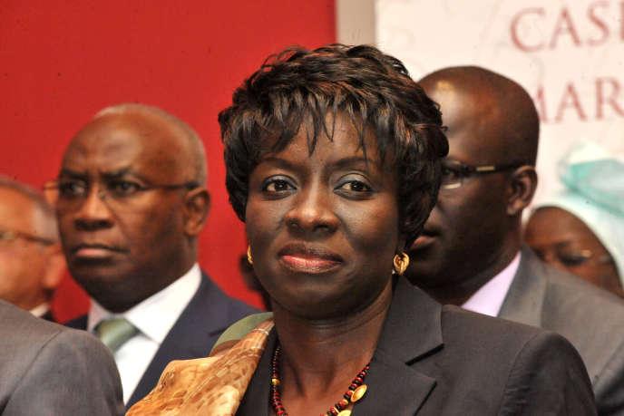 Aminata Touré en novembre 2012 alors qu'elle étaitministre de la justice du Sénégal.