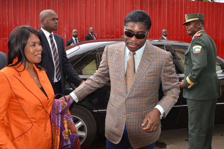 Teodorin Obiang, fils du président équato-guinéen, à Malabo, en juin 2013.