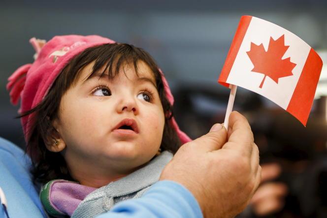 Une jeune Syrienne arrive en Ontario en décembre 2015.