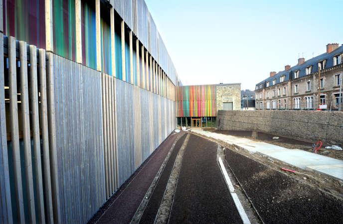 Le chantier de la nouvelle Cité internationale de la tapisserie à Aubusson en mars 2016.