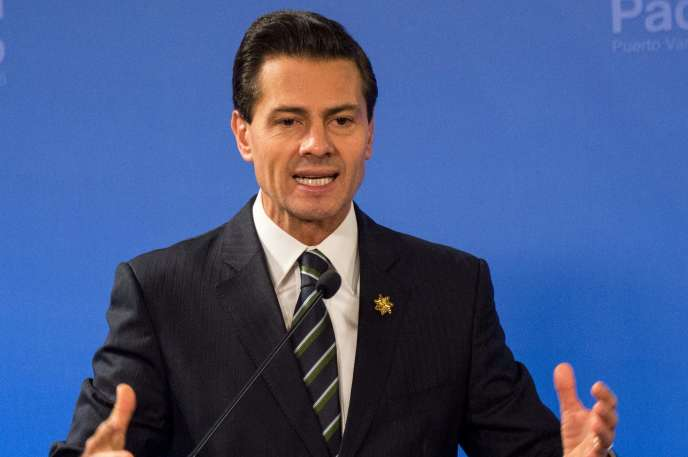 L'ancien présidentmexicain, Enrique Pena Nieto, lors d'un discours au Chili, en juillet 2016.