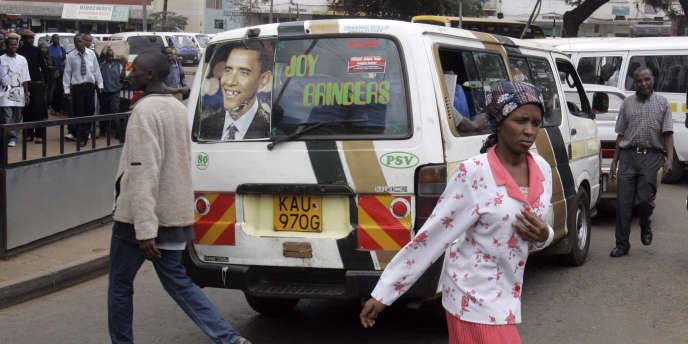 Dans le centre de Nairobi, la capitale du Kenya, en octobre 2008.
