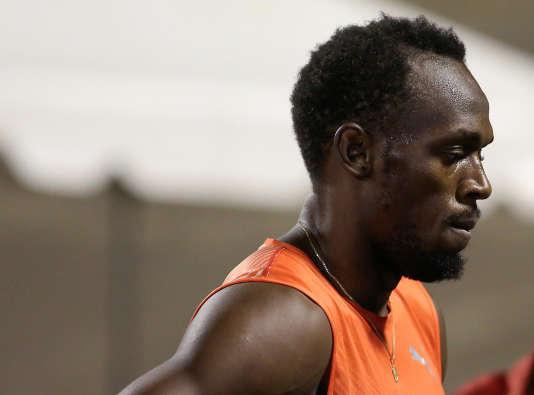 Usain Bolt, le 30 juin, lors des séléctions jamaïquaines pour les Jeux olympiques deRio.