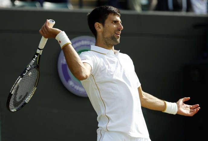 Novak Djokovic lors de son match face à Sam Querrey.