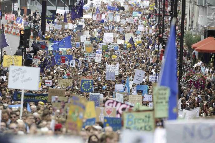 Manifestation contre le Brexit à Londres, le 2 juillet.