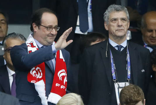 François Hollande et Angel Maria Villar, durant l'Euro 2016.