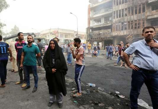 Bagdad, le 3 juillet, après l'explosion d'un camion piégé.