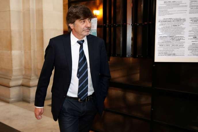 Michel Neyret au Palais de justice de Paris, mardi 5juillet.