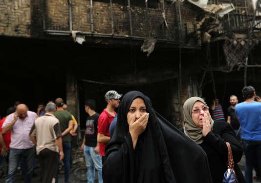 Après l'attentat dans le quartier de Karada, à Bagdad le 3 juillet.