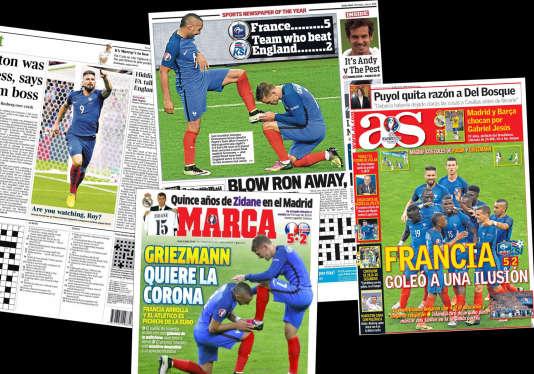 Les Bleus à la «une» de la presse étrangère le lundi 4 juillet.