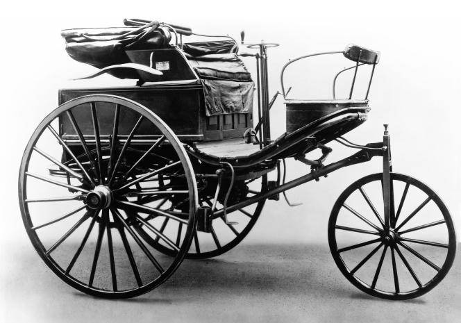 La voiture de Karl Benz troisième génération, en 1888.