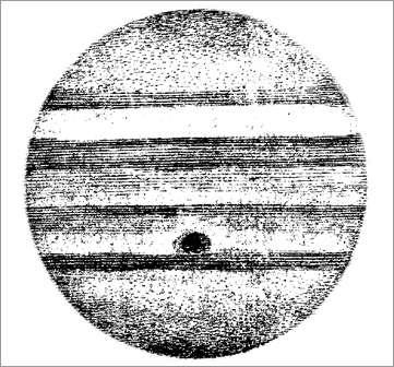Dessin de Jupiter par l'astronome Jean-Dominique Cassini (1625-1712), qui découvrit la Grande Tache rouge de Jupiter en 1665.