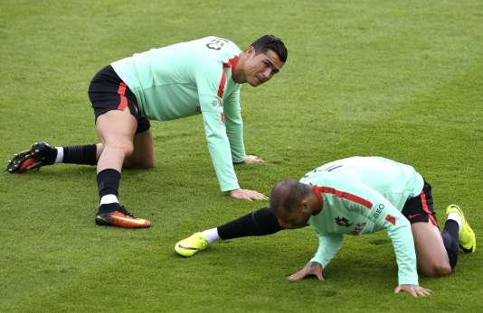 Cristiano Ronaldo et Ricardo Quaresma, le 4 juillet à Marcoussis.