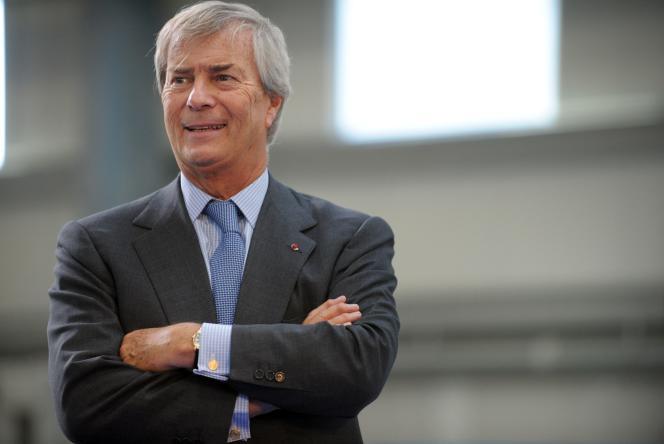 Vincent Bolloré, l'actionnaire de référence de Vivendi, le 15 janvier, àErgue-Gaberic, en France.