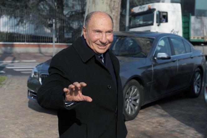Serge Dassault, ici, le 13 mars 2014, est accusé d'avoir dissimulé au fisc jusqu'à 31millions d'euros sur des comptes au Luxembourg et au Liechtenstein.