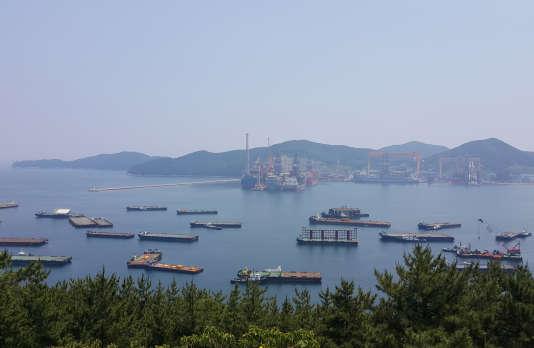 Le chantier naval de Daewoo Shipbuilding & Marine Engineering à Geoje, en Corée du Sud, en mai.