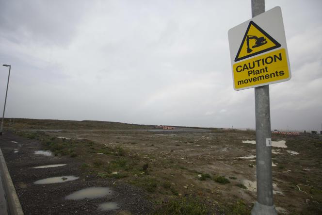 Lieu d'implantation prévu des réacteurs du projet de centrale à Hinkley Point.