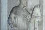 Portrait de Dante, dans son tombeau, à Ravenne (Italie).