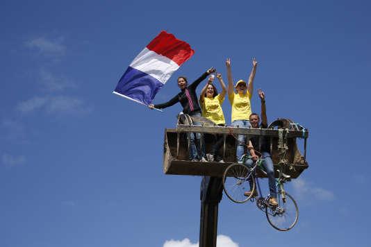 Sur la première étape du Tour de France, au Mont-Saint-Michel, le 2 juillet.