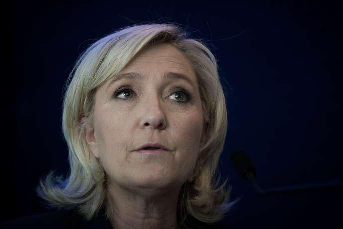 Marine Le Pen, présidente du Front national, en mai 2016.