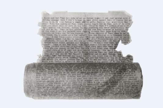 Jack Kerouac : « On the Road » (tapuscrit original), 1951 – papier calque, 360 × 22 cm.