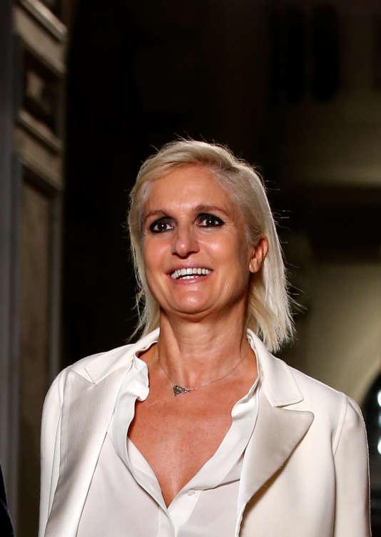 Maria Grazia Chiuri, 52 ans, était jusqu'ici à la tête de la création de Valentino.