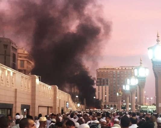 Des images de l'explosion survenue à Médine.
