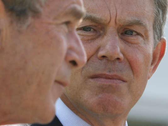 Tony Blair, alors premier ministre britannique, et George W. Bush, président des Etats-Unis lors du sommet du G8 àHeiligendamm, en Allemagne, le 7 juin 2007.