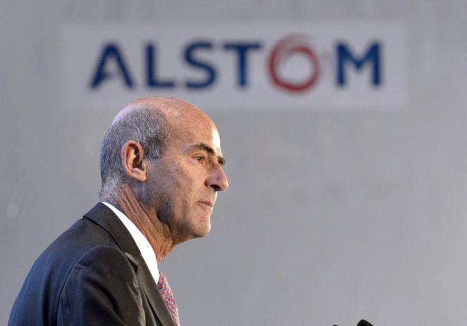 Patrick Kron, alors PDG d'Alstom, en décembre 2014