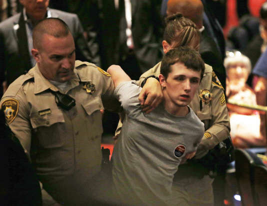 Michael Sandford arrêté par la police, le 18 juin à Las Vegas.