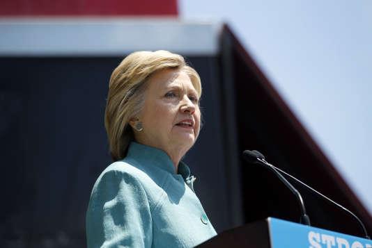 Hillary Clinton à Atlantic City (New Jersey), le mercredi 6 juillet.