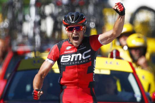 Greg Van Avermaet sera en jaune pour la sixième étape. (AP Photo/Peter Dejong)